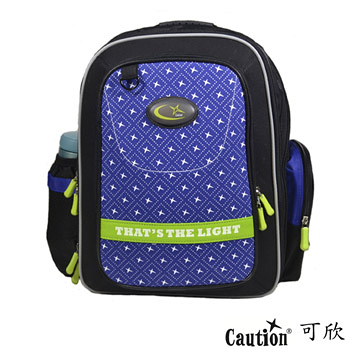 兒童 學生 書包(護脊) Caution可欣 1018 藍/綠(福利品)