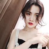 簡約日韓國學生珍珠網紅項鍊鎖骨鍊項圈短款頸帶脖子飾品女choker【免運】