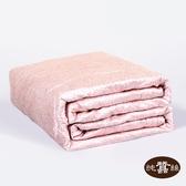 【岱妮蠶絲】精美數位印花絲棉緞蠶絲涼被0.7KG(粉紅豹紋)