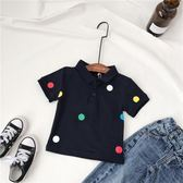 【618】好康鉅惠2018夏裝新款男女短袖T恤小童寶寶POLO衫純