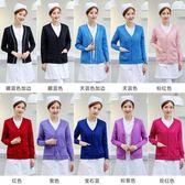 護士毛衣女針織衫護士服醫院開衫外套外搭藏藍色冬季保暖加絨加厚 樂活生活館