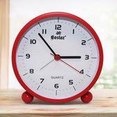 優惠快速出貨-學生小鬧鐘創意靜音電子鐘夜燈簡約時尚個性鐘錶兒童可愛床頭時鐘