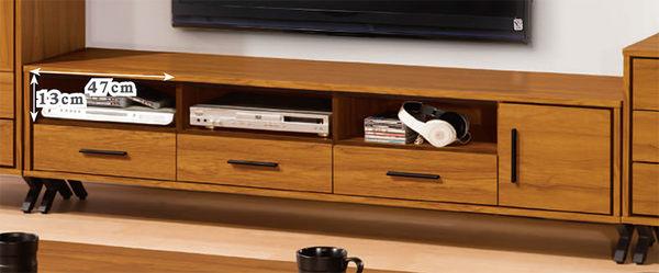 【森可家居】安德里6尺電視櫃 7ZX382-4 長櫃 北歐工業風 木紋質感