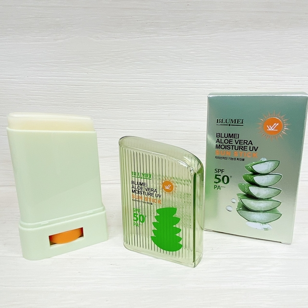 【八月新品】韓國 BLUMEI 濟州島蘆薈清爽防曬棒 20g