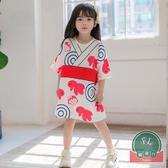 女童法式連身裙韓版百搭親子裝夏季母女裝【聚可爱】
