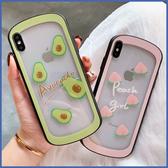 蘋果 XR XS i8 Plus XS MAX iX i7 Plus I6S+ 水果透底玻璃殼 手機殼 全包邊 保護殼