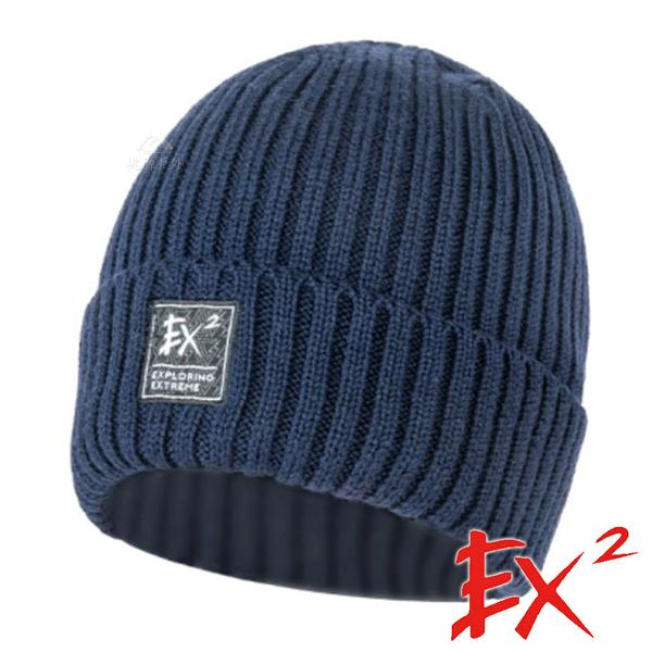 【 EX2 】針織保暖圓帽『藏青』366068 戶外.針織帽.造型帽.毛帽.帽子.禦寒.防寒.保暖