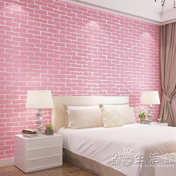 中式復古磚紋紅磚青磚仿古磚頭自黏牆紙3d立體磚塊文化石飯店壁紙WD小時光生活館
