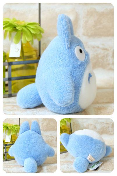 宮崎駿 經典龍貓系列絨毛沙包娃娃公仔 抱枕 TOTORO 藍色 該該貝比日本精品 ☆