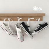(GG-5733)白色百搭ulzzang板鞋拼色帆布鞋平底鞋小白鞋熱賣款帆布鞋