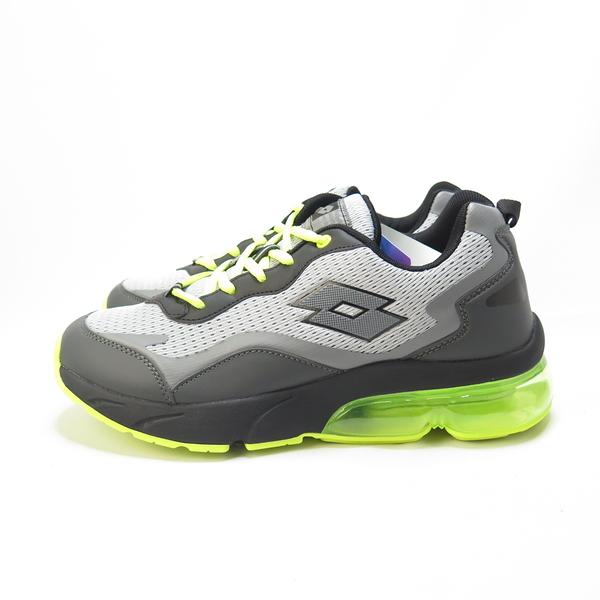 LOTTO FLOAT 氣墊跑鞋 透氣鞋面 避震鞋墊 LT0AMR2185 男 黑螢光綠【iSport愛運動】