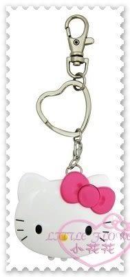 ♥小花花日本精品♥ Hello Kitty 頭形太陽能LED照明鑰匙圈不須電池粉色蝴蝶結台灣製 56916706