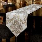 歐式奢華現代時尚簡約銀線色織提花桌布桌旗...