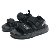 PUMA 涼鞋 RS -SANDAL 全黑 白LOGO 黏帶 魔鬼氈 休閒 女 (布魯克林) 37486202