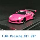 PC CLUB 1/64 模型車 Porsche 保時捷 911 997 PC640002G 粉紅