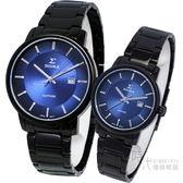 【台南 時代鐘錶 SIGMA】簡約時尚 藍寶石鏡面情人對錶 1122M-B3 1122L-B3 藍/黑鋼 平價實惠好選擇