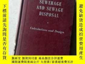 二手書博民逛書店sewerage罕見and sewage disposalY447092 escritt the adelph