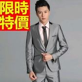 西裝套裝 包含西裝外套+褲子 男西服-制服上班族潮流風靡合身造型2色54o47【巴黎精品】