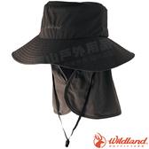 Wildland 荒野 W1037-96深鐵灰 中性抗UV調節式遮陽帽 防曬工作帽/登山健行休閒帽/遮臉大圓盤帽*