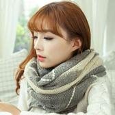 韓版春秋冬天韓國女士圍巾加厚保暖針織粗毛線學生套頭圍脖潮