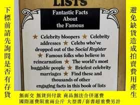 二手書博民逛書店關於名人的奇妙研究罕見The Celebrity Book of