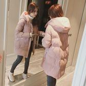 冬季棉服女正韓學生寬鬆羽絨棉襖中長款加厚面包服潮