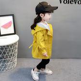 寶寶外套 2019新款女童外套風衣秋季韓版童裝女寶寶長袖洋氣春秋裝1-3一4歲 小宅女