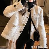 W花花家小香風花邊短外套女短款秋冬2020寬松名媛夾克上衣 美眉新品