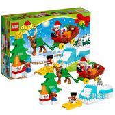 樂高積木樂高得寶系列10837聖誕老人的寒假LEGODUPLO積木玩具 聖誕交換禮物xw