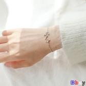 【新飾界】設計純銀十二星座手鍊簡約女閨蜜韓版個性冷淡風轉運