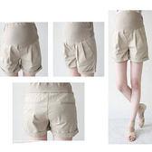 *孕味十足。孕婦裝*【CIA6657】韓風無造作‧素色反摺褲管孕婦休閒短褲‧3色