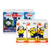 美國熱銷卡通 紙手帕6包/組(Minions超可愛兵兵、Thomas & Friends)