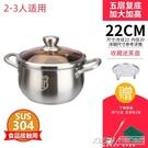 304不鏽鋼家用小煮鍋蒸煮粥面奶鍋小湯鍋加厚燃氣電磁爐鍋具CY『新佰數位屋』