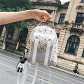 包包女新款韓版小雙肩包女時尚百搭多用夏季旅行潮包迷你背包-ifashion