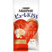 【寵物王國】 MonPetit貓倍麗-Puree Kiss小鮮肉泥(鮮雞蘋果口味)(10gx4包)