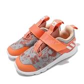 adidas 慢跑鞋 RapidaFlex Minnie El I 灰 橘 童鞋 小童鞋 米老鼠 米妮 運動鞋 【ACS】 EF9733