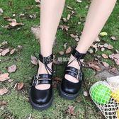娃娃鞋  日繫軟妹小皮鞋厚底圓頭女鞋洛麗塔少女可愛娃娃鞋  瑪奇哈朵
