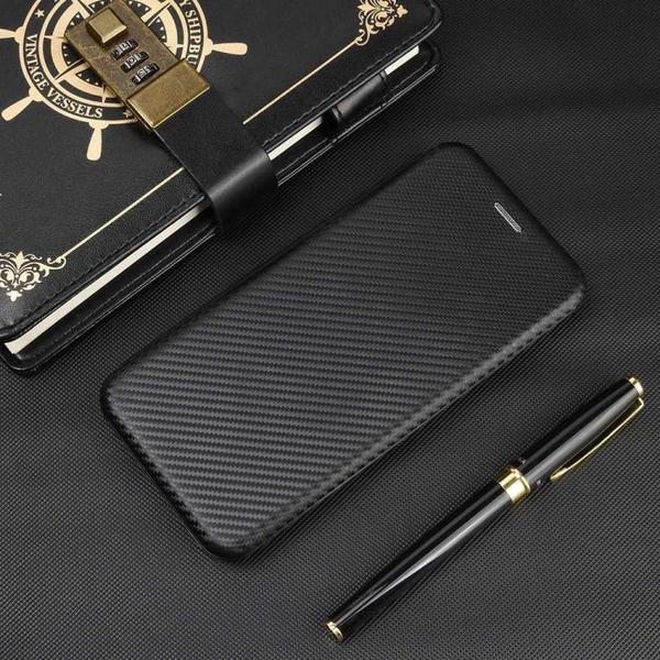時尚碳纖維 翻蓋皮套 蘋果 iPhone XR X XS Max手機殼 掀蓋保護殼 iX iXR 磁吸 支架插卡 手機套