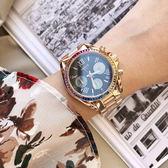【享10年免費換電池服務】VOGUE STUDIO 晶彩璀璨系列計時女錶-36mm 5V1905-121RG-DWM