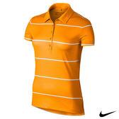 NIKE PRECISION STRIPE快速排汗條文短袖POLO上衣(橘)725634-868