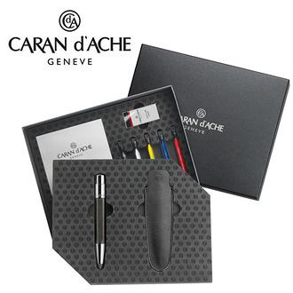 CARAN d'ACHE 瑞士卡達 VARIUS 維樂斯黑檀木素描筆(鈀金) 5.5mm 禮盒 / 組