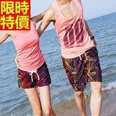 情侶款海灘褲(單件)-防水衝浪潮流圖案細膩做工男女沙灘褲66z11[時尚巴黎]