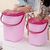 家用泡腳桶塑料加大加高按摩洗腳桶泡腳木桶帶蓋保溫足浴盆洗腳盆igo「時尚彩虹屋」