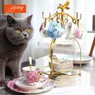 咖啡杯套裝歐式小奢華陶瓷英式下午茶花茶杯紅茶茶具家用杯碟帶勺【全館限時88折】