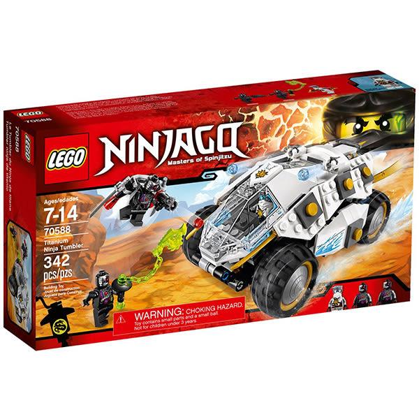 樂高Lego Ninjago 忍者系列【70588 鈦忍者衝鋒巨輪戰車】