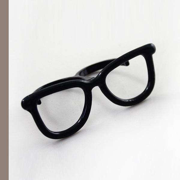 盧廣仲黑框眼鏡~雙指造型戒指705912/1色