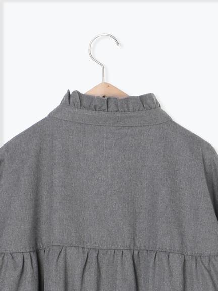 「Hot item」胸前綁帶設計荷葉領大衣外套 (提醒-SM2僅單一尺寸) - Sm2