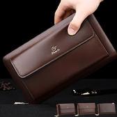 皮夾 手拿包 腕帶設計真皮大容量商務長夾(三款)【CB015】