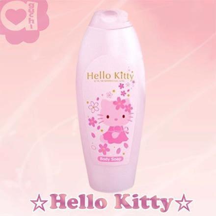 ☆ Hello Kitty☆ 凱蒂貓 櫻花玻尿酸沐浴乳(最佳使用期限 : 2018/3/30)