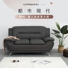 【IDEA】現代簡約輕奢華 雙人座皮革沙發(三色可選)【KC-015】